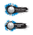 volleyball championship banner blank template vector image vector image