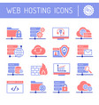 web hosting and cloud services icons set vector image vector image