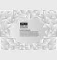 white and gray polygon abstract background with vector image vector image
