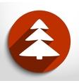 xmas tree web flat icon vector image vector image