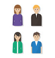 young people cartoon vector image