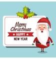 santa claus card merry christmas design vector image