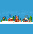 urban winter landscape christmas happy holidays vector image