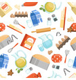 different ingredients for cooking bakery foods vector image