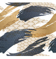 abstract seamless background with japanese gold vector image vector image