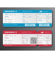 Airline boarding pass ticket tear-off element set