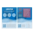 Blue booklet A4 universal Bright informational vector image vector image