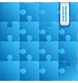 blue plastic pieces puzzle game vector image