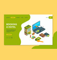 booking hotel order online search reservation vector image vector image