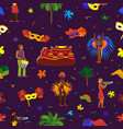brazil carnival rio festival celebration vector image
