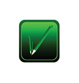 button pencil green vector image vector image