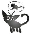 Cat and Mouse vector image vector image