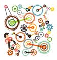 cogs - gears and man repair or maintenance symbol vector image vector image