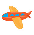 colored airplane toy icon vector image vector image