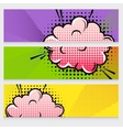 Comic Sound Effects Banners Set vector image vector image
