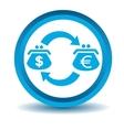 Dollar-euro trade icon blue 3D vector image vector image