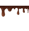 dripping chocolate drips chocolate isolated vector image vector image