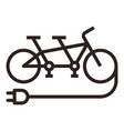 e-tandem bike icon vector image vector image