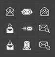 email and envelope icons on dark vector image