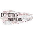 expedition word cloud concept vector image vector image