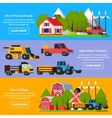 Farm Orthogonal Flat Banners vector image vector image