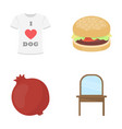 fast food industry textiles and other web icon vector image