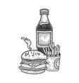 fastfood sketch vector image