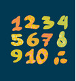 figure numbers lettering vector image vector image