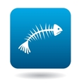 Fishbone icon in simple style vector image vector image