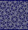 floral pattern of overlapping flowers vector image vector image