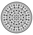 floral scandinavian mandala design folk art vector image vector image