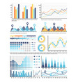 flowcharts with information in visual form data vector image vector image