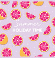 fruit design with summer holiday time typography vector image vector image