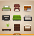 furniture icons-set 8 vector image vector image