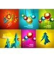 Glossy Christmas cards set vector image