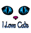 i love cats vector image