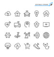 internet things line icons editable stroke vector image