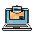 laptop computer with envelope vector image