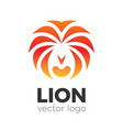 lion logo vector image vector image