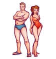 man and women in swimsuit vector image vector image