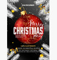 merry christmas party promotional poster with vector image vector image