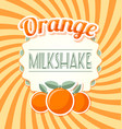 orange milkshake label vector image