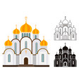 orthodox church buildings vector image vector image