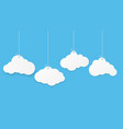 paper art with cloud on blue sky copy space vector image vector image