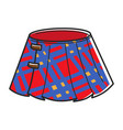 pleated checkered red skirt with clasps isolated vector image