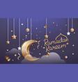 ramadan kareem islamic religion holiday vector image