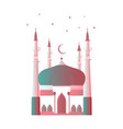 ramadan kareem muslim mosque with a crescent moon vector image