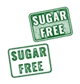 Realistic Sugar free grunge rubber stamp vector image vector image