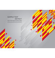 red and yellow abstract background with copy vector image vector image