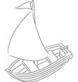 Sailboat vector image vector image